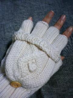 指がでる。