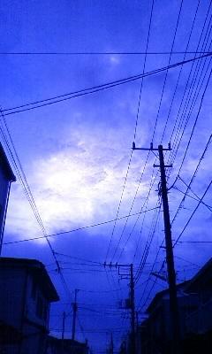 夏の夕空。